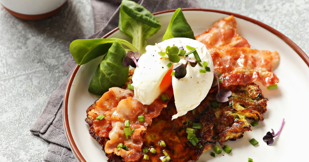 Corn Fritters and Free-Range Eggs